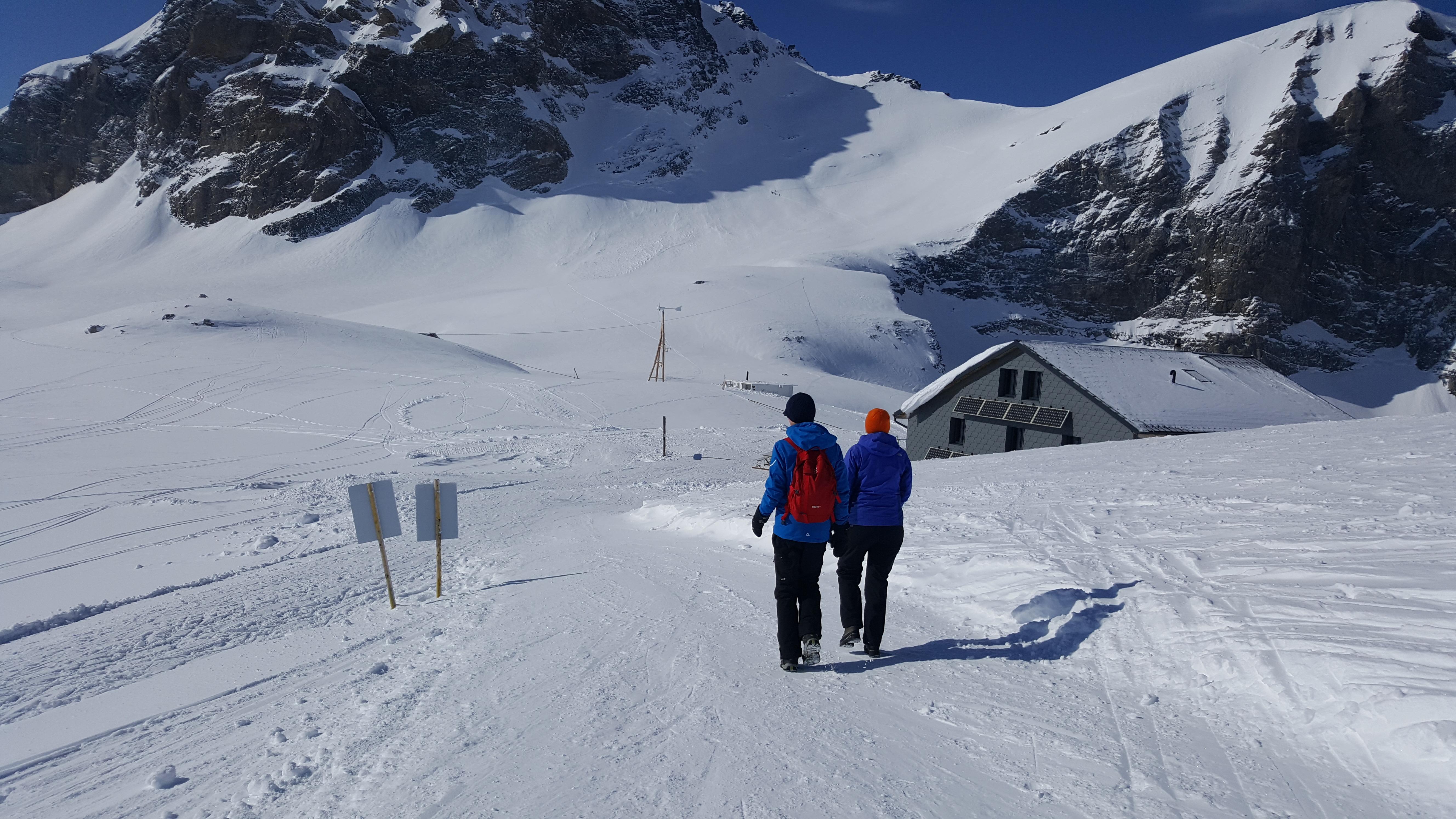 Winterwandern Lötschenpasshütte