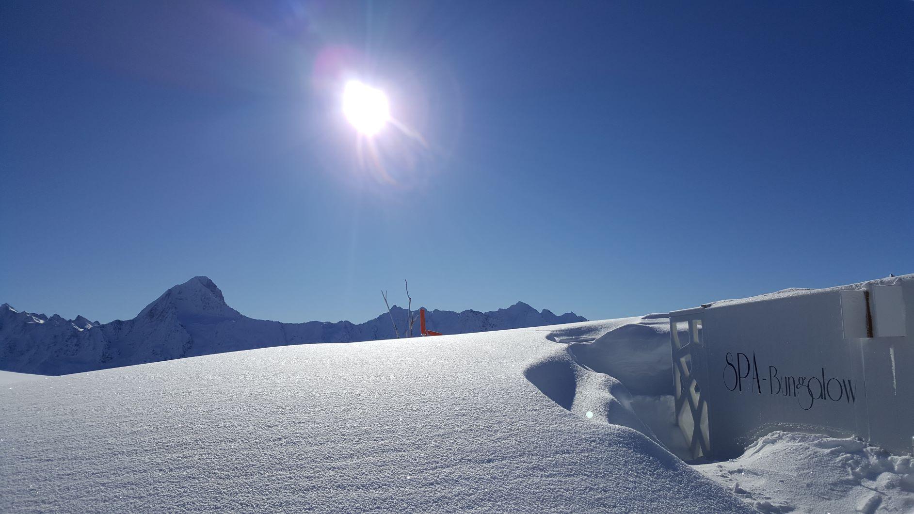 Spa-Bungalow im Schnee
